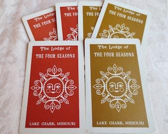 6 Sun Graphic Vintage Playing Cards, The Lodge of The Four Seasons, Lake Ozark, Missouri