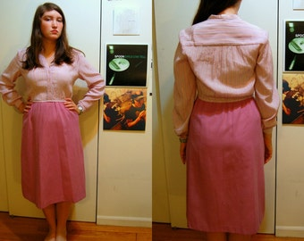 M Vintage 70s Pink Secretary Dress