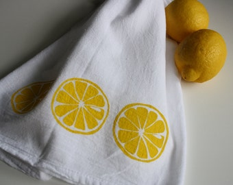 Kitchen towel Lemon screen print