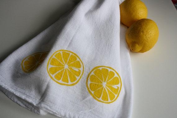Kitchen towel Lemon screen print