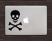 Pirate Skull and Crossbones Vinyl MacBook Decal BAS-0183B