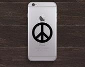Peace Sign Vinyl iPhone Decal BAS-0169