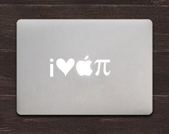 I Heart Apple Pi Vinyl MacBook Decal BAS-0149