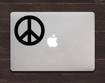Peace Sign Vinyl MacBook Decal BAS-0171