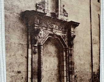 French Unused Postcard - Door of the Old Carmelite Convent in Carpentras, France