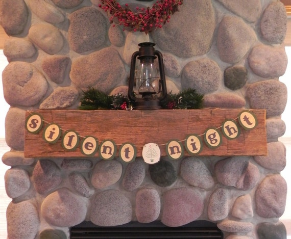 Silent Night--A Decorative Christmas Banner for the Holiday Home---Ready to Ship