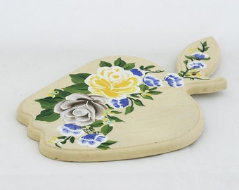 Folk Art, Romantic wall display , Unique Decorative Hand Painted flowers, Romantic Home Decor