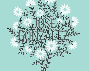 Jose Gonzalez, screen print Gig Poster