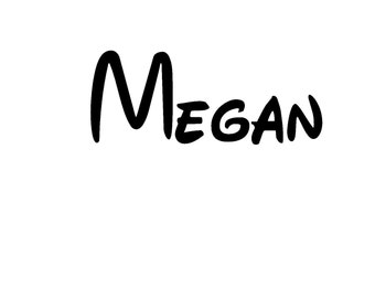 Personalized Name Iron On Vinyl Decal