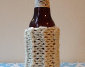 Cozy Beer Sweater-Ivory & Gold Sparkle