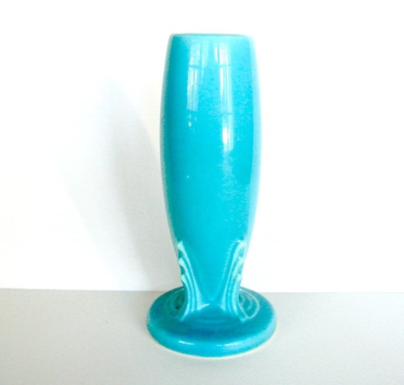 Vintage Genuine Fiesta bud vase original turquoise glaze