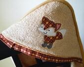 fox hooded towel gender neutral shower gift birthday gift