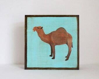 safari nursery art, camel print, jungle nursery, moroccan nursery, art block, animal print, camel, gender neutral baby, redtilestudio