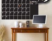 Forever Calendar. Chalkboard Vinyl Wall Decal. Free chalk marker.