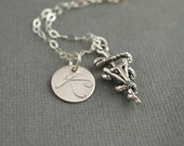 Personalized Vet Tech Charm Personalized Hand Stamped Sterling Silver Necklace