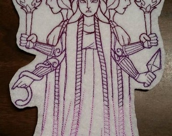 Goddess Patch, Hecate, Witch craft, Greek