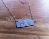 Brave Sterling Silver Hand Engraved Handmade Hand Lettered Empowerment Necklace
