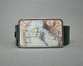 Belt Buckle San Diego California Vintage Map for Men or Women Cool Gift