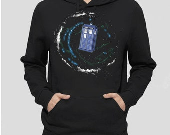 Doctor Who Clothing | Geek Clothing | Geek Hoodie | Space + Time + the Universe | Geek Sweatshirt | Geeky Gifts | Doctor Who Gift for Geeks