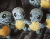 Squirtle Inspired Crochet Doll - OOAK