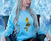 Custom Color Holographic Mystic Mermaid Sweatshirt