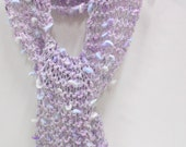 Little Girls Sparkly Lavender Scarf, Toddler Scarves, Photo Prop, Dress Up Clothes