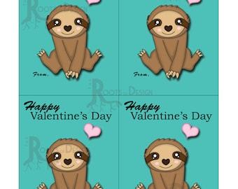 Großartig Valentine Sloth | Etsy
