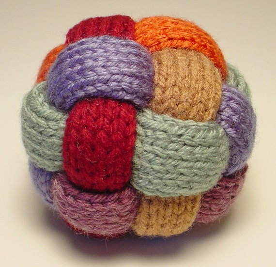 Knitting Patterns For Toy Balls : Hand Knit Braided Ball Toy by SouthernYankeeYarns on Etsy