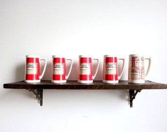 Retro Budweiser Beer Mugs
