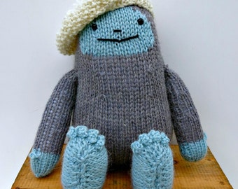 Finn the Hand Knitted Yeti Softie Toy