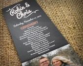 DIY Wedding Program - Printable Photo Wedding Program - CHALKBOARD - Studio Veil