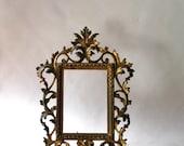 Vintage Frame-Elaborate -Gilt Metal- Victorian Picture Frame