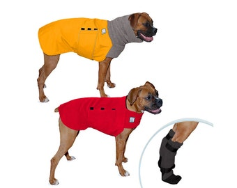 BOXER Cold Climate Special, Dog Winter Coat, Dog Sweater, Dog Booties, Winter Dog Coat, Fleece Sweater, Winter Boots, Waterproof Dog Jacket