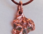 Natural Copper Nugget Organic Pendant 'A'
