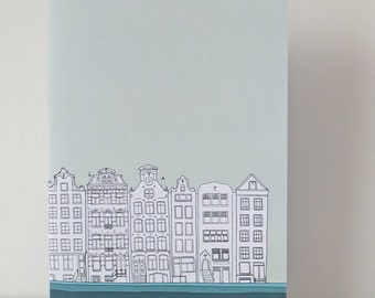 Amsterdam Journal, A5 Notebook, Blank Journal, Mint Green Journal, Travel Journal