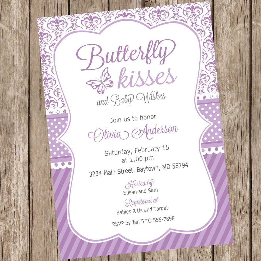 Nice Lavender Baby Shower Invitations Part - 2: 🔎zoom