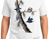 White-breasted Bird Retro Men & Ladies T-shirt - Gift for Bird Lovers and Ornithologist (idc152)