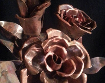 Copper Full Bloom Roses
