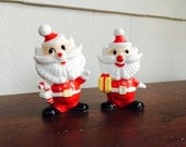 Red and White Vintage Santa Salt and Pepper Shakers