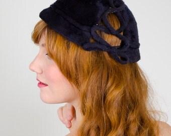 50% OFF SALE / 1950s vintage hat / cloche / Jeanne Téte