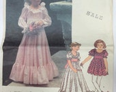Vogue 1814 Vintage 1970's  Childrens Pattern, Dress, Size 6 - Simplicity 5293 Pinafore Dress Size 1/2 Toddler