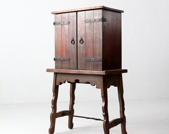 antique Spanish Colonial style secretary, hacienda writing desk