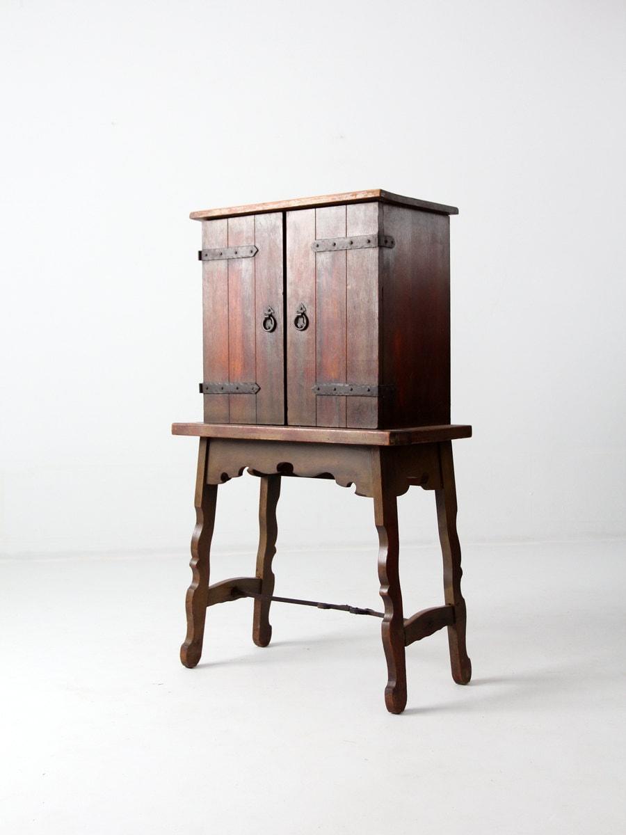 Antique Spanish Colonial Style Secretary Hacienda Writing