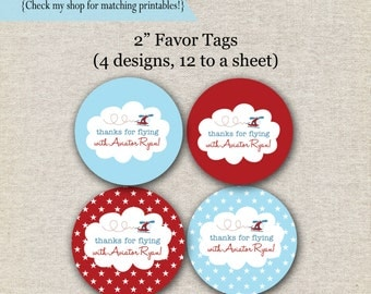 Helicopter Favor Tags | Helicopter Thank You Tags | Helicopter Stickers | Helicopter Birthday Party | Aviator | digital printable