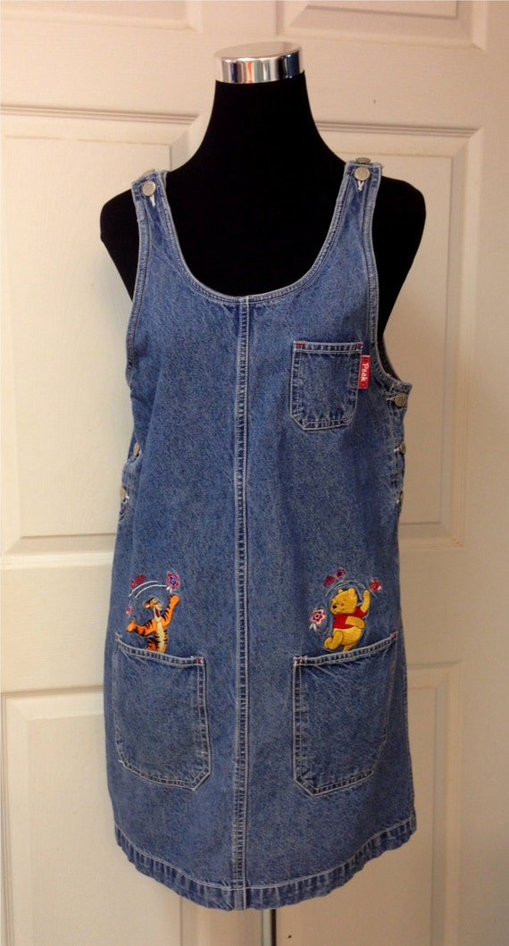 Vintage Disney Jumper Dress Size Small Pooh by STAROSECREATIONS