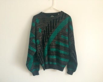 1980s Geometric Hipster Sweater