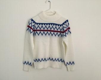 1970s Nordic retro geometric Ski Lodge Hipster sweater