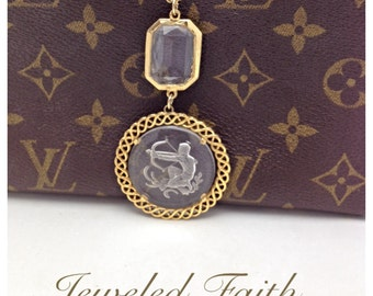 Intaglio Necklace Vintage Assemblage Necklace