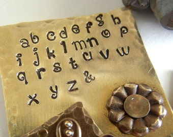 2mm LOWERCASE Verona Font Alphabet Letter Punch Set - Metal Stamps for Hand Stamped Jewlery