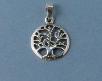 Sterling Silver Tree of Life - 16mm - Sold Per Piece